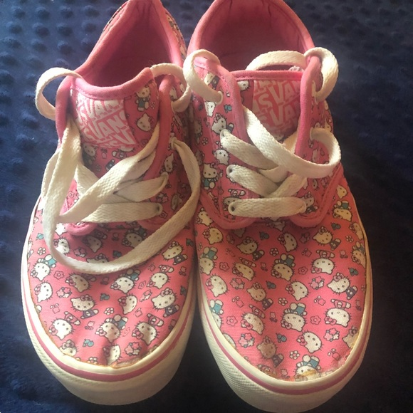 Vans Other - Hello Kitty Pink laced vans Missy 5.0 cute & sweet